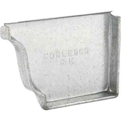 NorWesco 4 In. Galvanized Right Gutter End Cap
