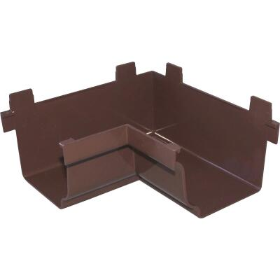 Repla K 5 In. Vinyl Brown Gutter Inside Corner