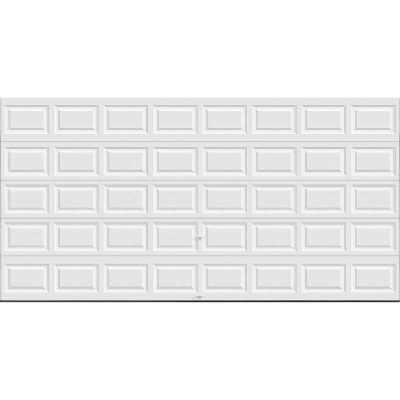 Holmes Gold Series 16 Ft. W x 8 Ft. H White Insulated Steel Garage Door w/EZ-Set Torsion Spring