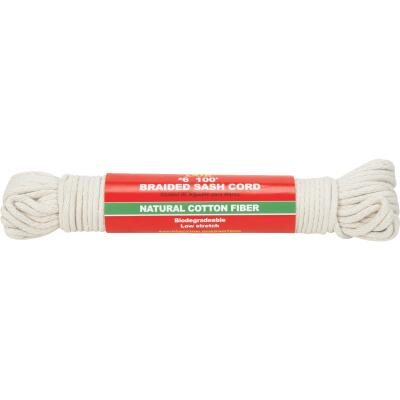 Do it 3/16 In. x 100 Ft. White Solid Braided Cotton Sash Cord