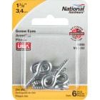 National #208 Zinc Small Screw Eye (6 Ct.) Image 2