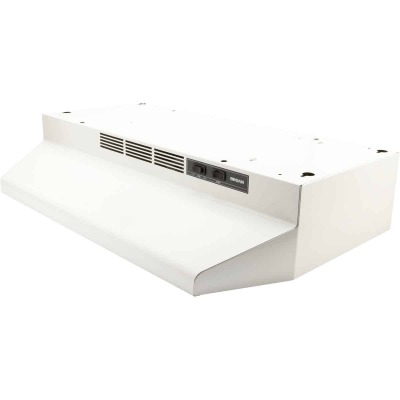 Broan-Nutone 41000 Series 30 In. Non-Ducted White Range Hood