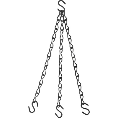 National V2663 18 In. Black Metal Hanging Plant Extension Chain
