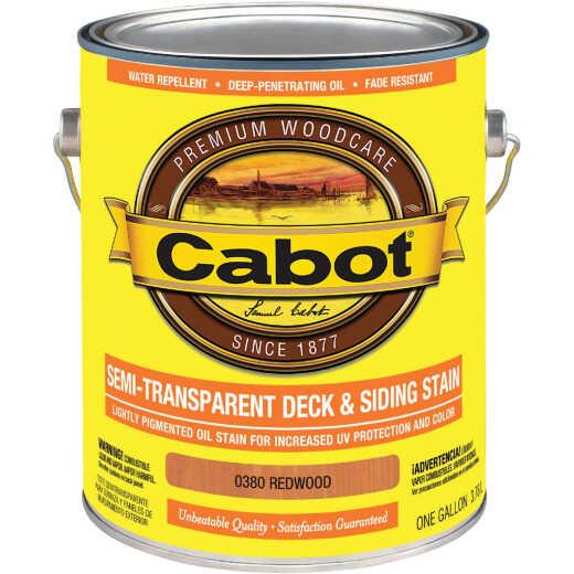 Cabot Semi-Transparent Deck & Siding Exterior Stain, Redwood, 1 Gal.