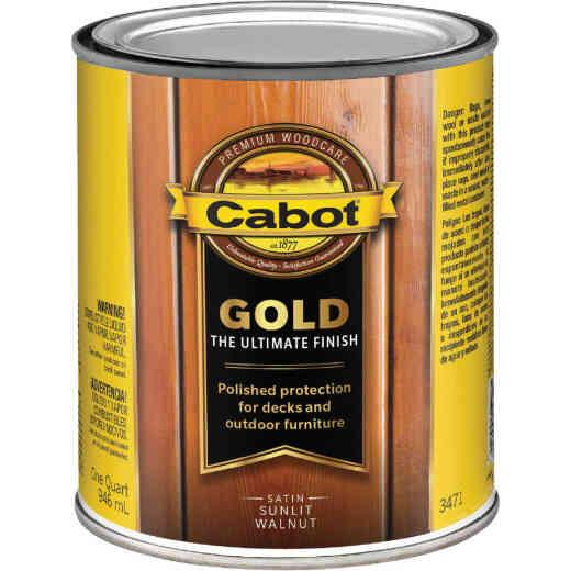Cabot Gold Exterior Stain, Sunlit Walnut, 1 Qt.